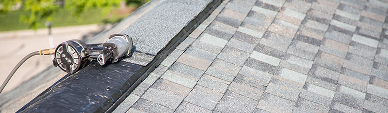 Ridge Vent On Peak Of Roof Installation